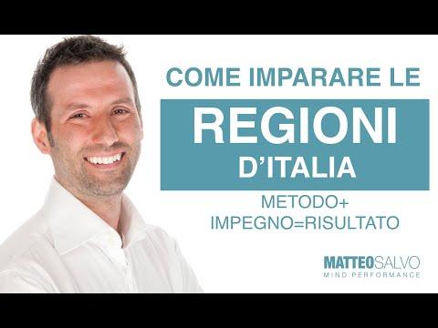 imparare regioni italiane